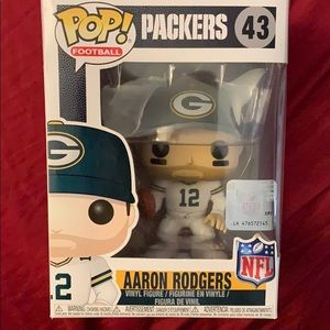 Aaron Rodgers white jersey Funko Pop